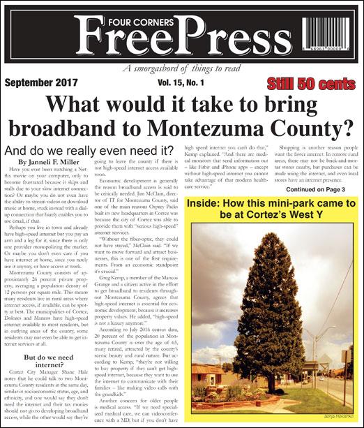 FOUR CORNERS FREE PRESS - SEPTEMBER 2017