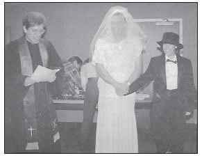 MOCK WEDDING BETWEEN JIM WEBB AND SALLY WISELY