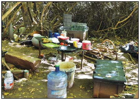 DEBRIS FOUND AT TWO ILLEGAL CANNABIS GROW SITES ON THE DOLORES RIVER