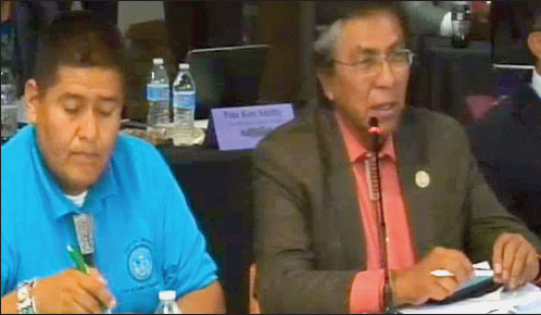 NAVAJO NATION COUNCIL DELEGATE LEONARD TSOSIE