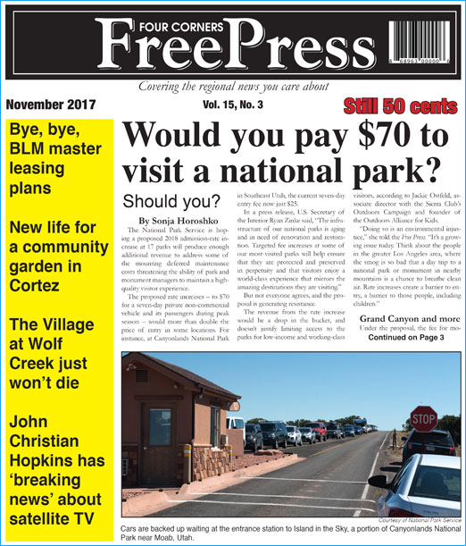 NOVEMBER 2017 FOUR CORNERS FREE PRESS