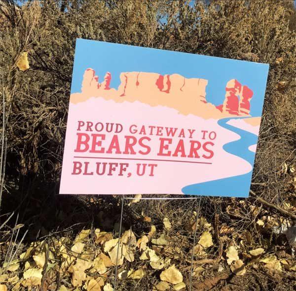 GATEWAY TO BEARS EARS SIGN IN BLUFF, UTAH
