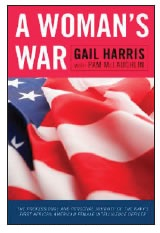 BOOK COVER A WOMAN'S WAR BY GAIL HARRIS