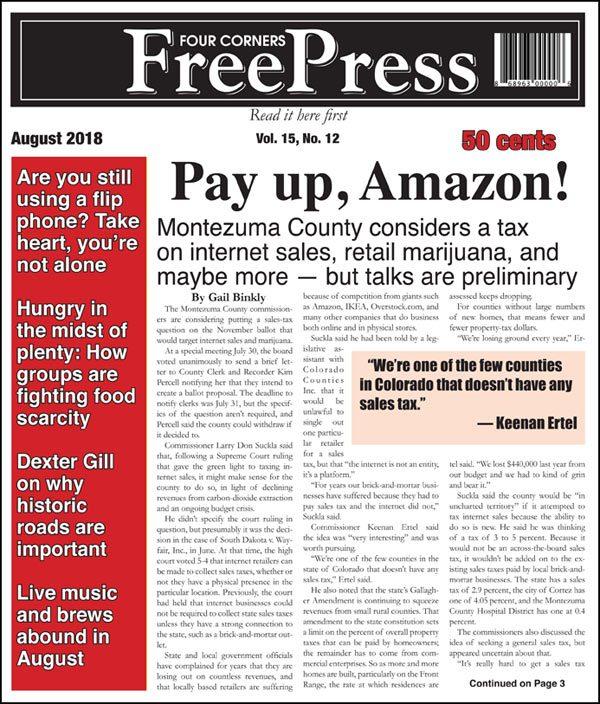 FOUR CORNERS FREE PRESS AUGUST 2018