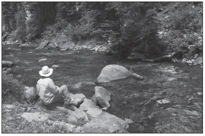 MAN FISHING ON HERMOSA CREEK