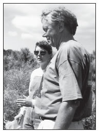 LOUANN JACOBSON AND BRUCE BABBITT AT LOWRY RUINS