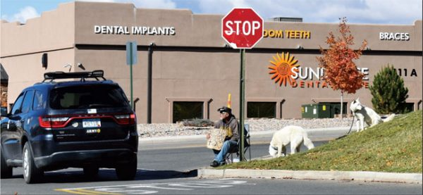 Panhandlers are a common sight in Cortez at places such as Walmart and City Market.