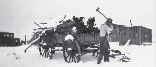 A homesteader in the winter of 1928, one of the people who built Montezuma County.