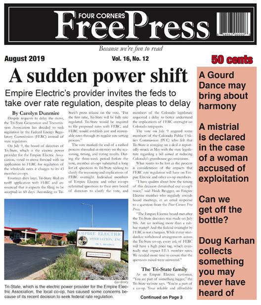 AUGUST 2019 FOUR CORNERS FREE PRESS