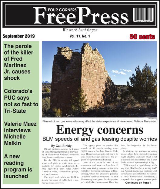 FOUR CORNERS FREE PRESS SEPTEMBER 2019