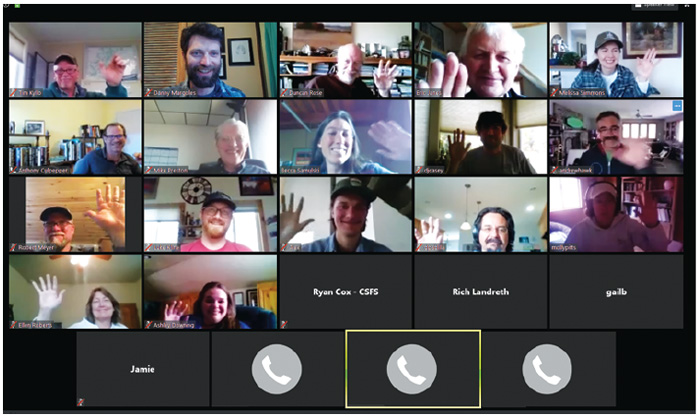 Members of the DWRF collaborative took part in a Zoom meeting in April.