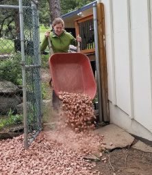 Laying gravel to make a 5-inch buffer between vegetation and the foundation is a best practice to make any building more fire resistant.