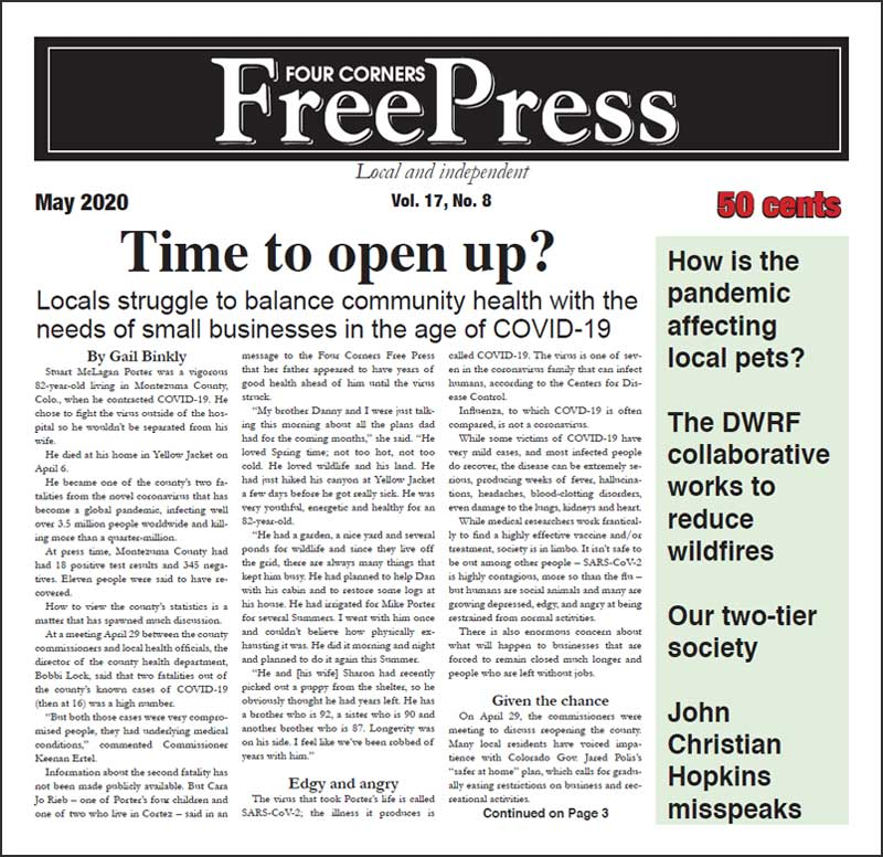 FOUR CORNERS FREE PRESS MAY 2020